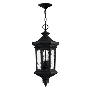 Raley Museum Black 12-Inch Four-Light Outdoor LED Hanging Pendant