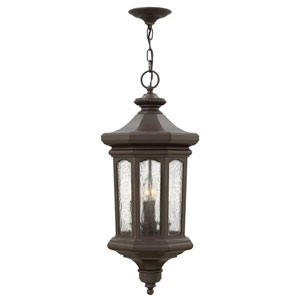 Raley Oil Rubbed Bronze 12-Inch Four-Light Outdoor Hanging Pendant