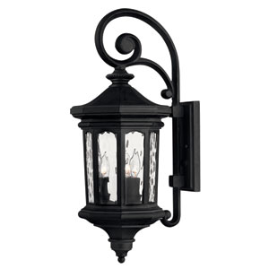 Raley Medium Museum Black Outdoor Wall Mount