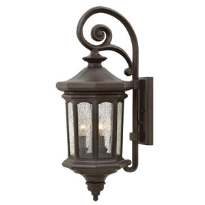 Raley Oil Rubbed Bronze Three-Light Outdoor Wall Sconce