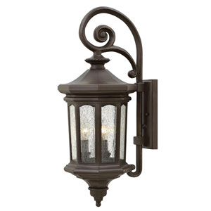 Raley Oil Rubbed Bronze 10-Inch Three-Light Outdoor Medium LED Wall Mount