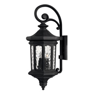 Raley Large Museum Black Outdoor Wall Mount