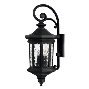 Raley Museum Black 12-Inch Four-Light Outdoor Large LED Wall Mount