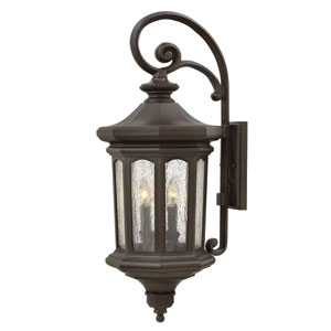 Raley Oil Rubbed Bronze 31.5-Inch Four-Light Outdoor Wall Sconce