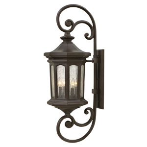Raley Oil Rubbed Bronze 42-Inch Four-Light Outdoor Wall Sconce