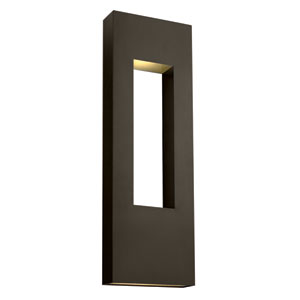 Atlantis Bronze Three-Light LED Outdoor Wall Sconce