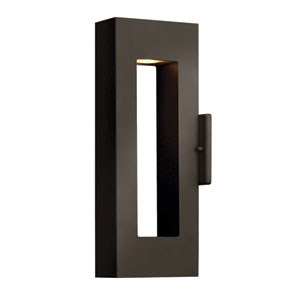 Atlantis Small Bronze Slim Outdoor Wall Mount