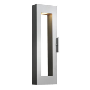 Atlantis Titanium 14-Inch Two-Light Medium LED Outdoor Wall Light