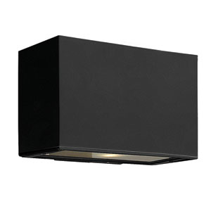 Atlantis Satin Black Small Pocket Up/Down One-Light Outdoor Wall Light