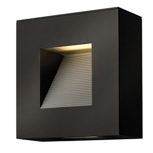 Luna Satin Black Two-Light LED Outdoor Wall Sconce