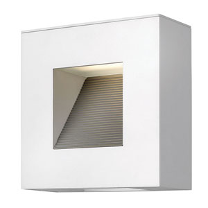 Luna Satin White Two-Light Fluorescent Outdoor Wall Light