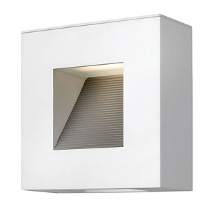 Luna Satin White Two-Light LED Outdoor Wall Sconce