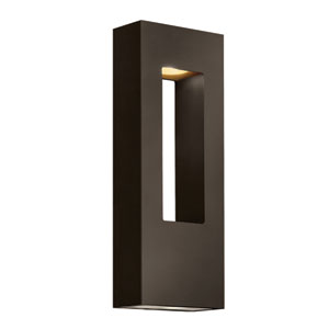 Atlantis Large Bronze Slim Outdoor Wall Mount