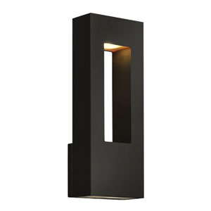 Atlantis Satin Black Medium Two-Light Outdoor Wall Light