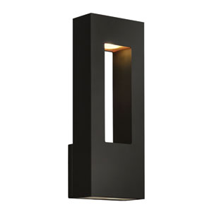 Atlantis Satin Black Medium Two-Light LED Outdoor Wall Light