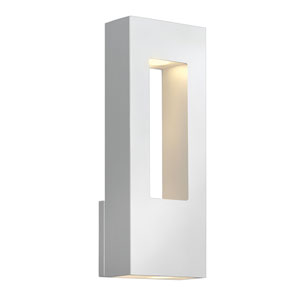 Atlantis Satin White Medium Two-Light LED Outdoor Wall Light