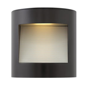Luna Satin Black 9-Inch LED Outdoor Small Wall Mount