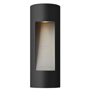 Luna Satin Black Small Rectangular Two-Light Outdoor Wall Light