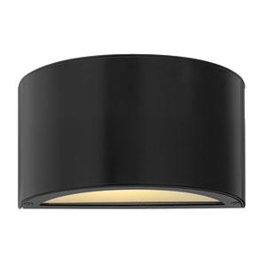 Luna Satin Black 3000K LED Outdoor Wall Mount