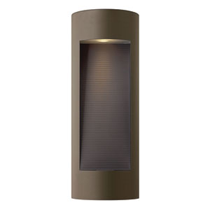 Luna Bronze Tall Flush Dark Sky Outdoor Wall Light