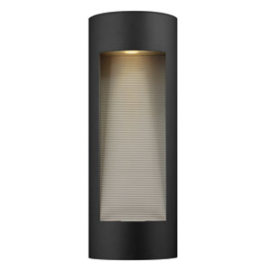 Luna Satin Black Large Two-Light LED Outdoor Wall Light