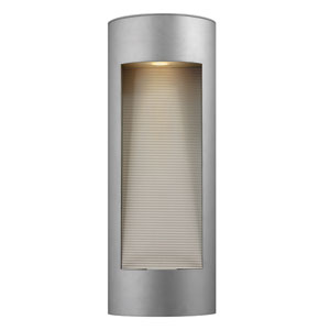 Luna Titanium Two-Light Large LED Outdoor Wall Light