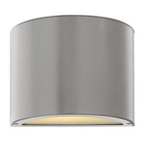 Luna Titanium Small Pocket Up/Downlight One-Light Fluorescent Outdoor Wall Light