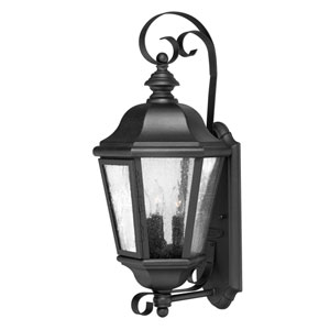 Edgewater Black 10-Inch Three-Light Outdoor Medium Wall Mount