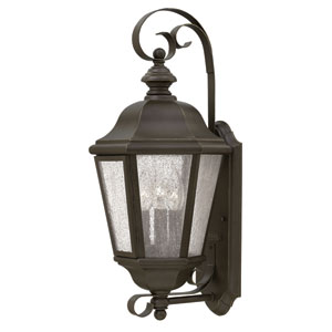 Edgewater Oil Rubbed Bronze 21-Inch Three-Light Outdoor Wall Sconce