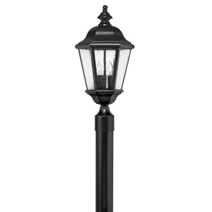 Edgewater Black 10-Inch Three-Light Outdoor LED Post Top and Pier Mount