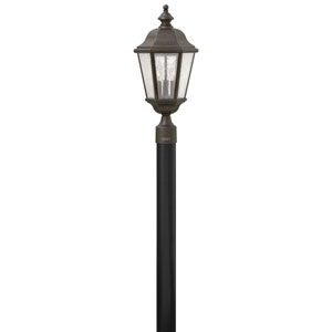 Edgewater Oil Rubbed Bronze 10-Inch Three-Light Outdoor LED Post Top and Pier Mount