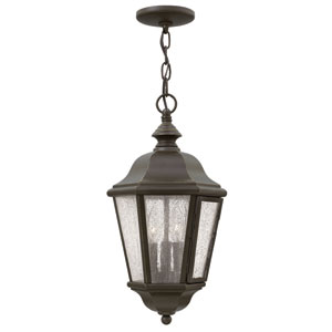 Edgewater Oil Rubbed Bronze Three-Light Outdoor Pendant