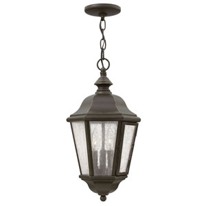 Edgewater Oil Rubbed Bronze 10-Inch Three-Light Outdoor Hanging Pendant