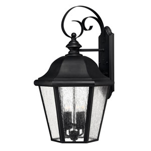 Edgewater Black 15-Inch Four-Light Outdoor Large Wall Mount