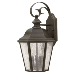 Edgewater Oil Rubbed Bronze 17.5-Inch Three-Light Outdoor Wall Sconce