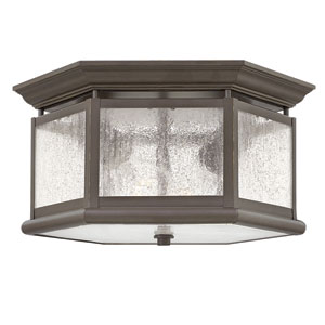 Edgewater Oil Rubbed Bronze Two-Light Outdoor Flush Mount