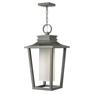 Sullivan Hematite 12-Inch One-Light Outdoor Hanging Pendant