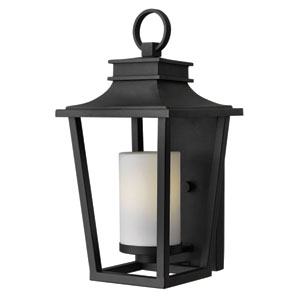 Sullivan Black Medium Fluorescent Outdoor Wall Mount