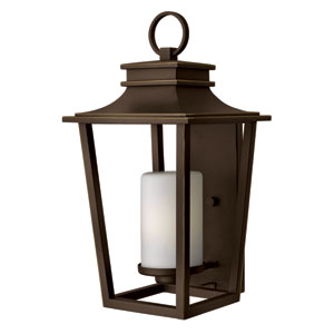 Sullivan Oil Rubbed Bronze 23-Inch One-Light Fluorescent Outdoor Wall Sconce