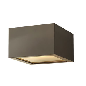 Kube Bronze Three-Inch LED Outdoor Wall Mount