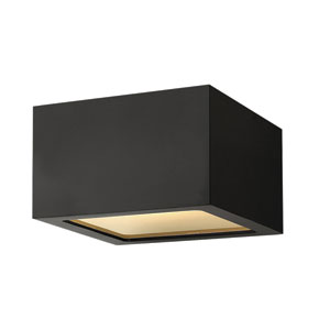 Kube Satin Black Three-Inch LED Outdoor Wall Mount