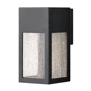 Rook Satin Black One-Light Outdoor Small Wall Mount