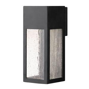 Rook Satin Black One-Light Outdoor Medium Wall Mount