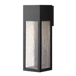 Rook Satin Black One-Light Outdoor Large Wall Mount