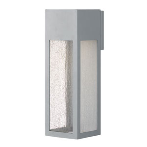 Rook Titanium One-Light Outdoor Large Wall Mount
