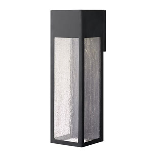 Rook Satin Black One-Light Outdoor Extra Large Wall Mount