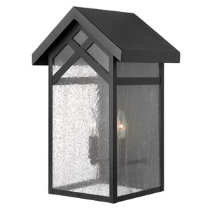Holbrook Black Two Light Outdoor Wall Light
