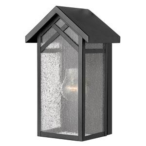 Holbrook Black One-Light Pocket Outdoor Wall Light