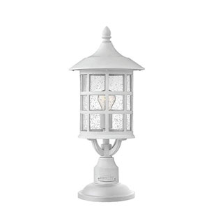 Freeport Classic White One-Light Outdoor 20-Inch 15W Post Top/ Pier Mount