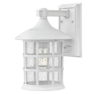 Freeport Classic White One-Light Outdoor 14-Inch 15W Hanging Light